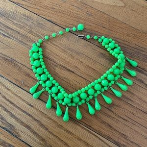 Vintage Neon Faceted Bead Choker!